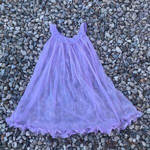 purple sheer nightgown